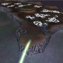 The ruins of Melmond in World B in <i>Dissidia 012 Final Fantasy</i>.