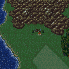 Tzen on the World of Balance map (SNES).