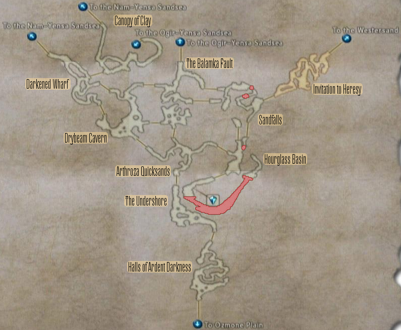 FF12 Map - Zertinan Caverns