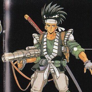 <i>Final Fantasy Legend II</i> Human Male Artwork.