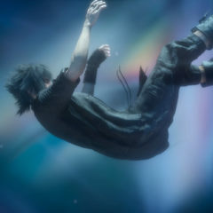 Noctis inside the Crystal.