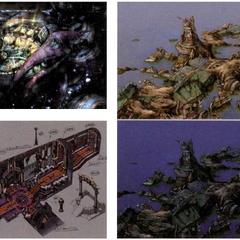 Concept artworks of Zanarkand Ruins.