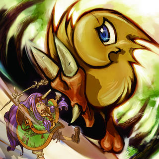 Chocobo's card artwork for the <i>Lord of Vermilion</i> series.