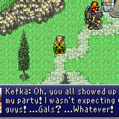 Kefka preparing to attack.