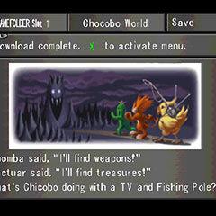 Chocobo World menu in <i>Final Fantasy VIII</i>.