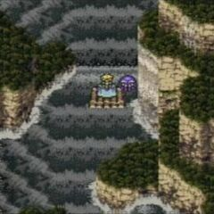 The party meeting with Ultros (GBA).
