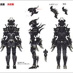 Dragoon Relic Equipment concept art.