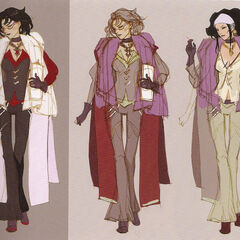 Alternate Arecia designs.