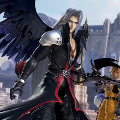 2nd form Sephiroth alongside team