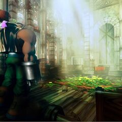 Promotional image of Barret and Marlene in the church.
