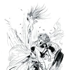 Amano art of Firion from the novel.