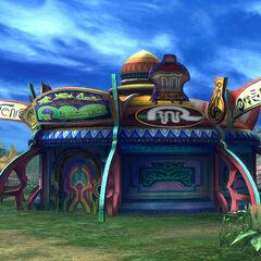 Travel Agency in Mi'ihen Highroad in <i>Final Fantasy X</i>.