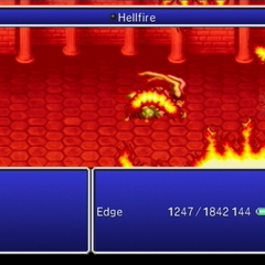 Edge suffering defeat at the hands of Ifrit