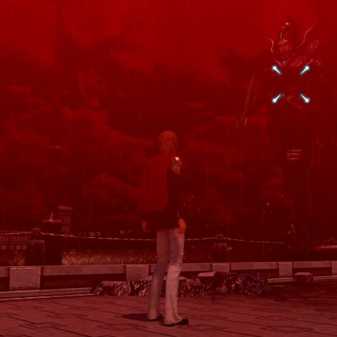 Ace confronts a Rursan Reaver at Akademeia.