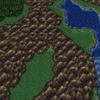 Baren Falls on the World Map (SNES).