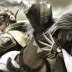 CG render alongside Warrior of Light.