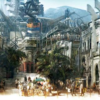 Concept art for the power plant in Lestallum.