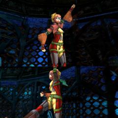 Rikku's underwater victory pose (diving suit).