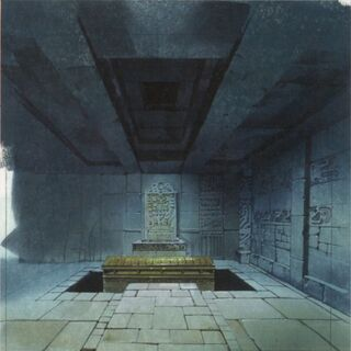 Early concept art of the tomb.