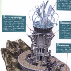 Concept art of the ruins from <i>Final Fantasy X-2 Ultimania Omega</i>.