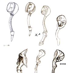 Concept designs for various unused rackets.