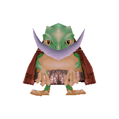 Cid as a frog.