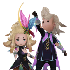 Edea and Ringabel as Summoners in <i><a href=