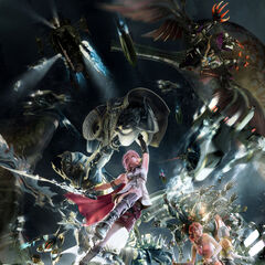 Artwork of the Party and their Eidolons in Eden.
