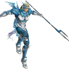Render of Kain's EX Mode, based on his appearance as a Holy Dragoon.