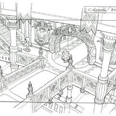 Lindblum Castle Hallway.