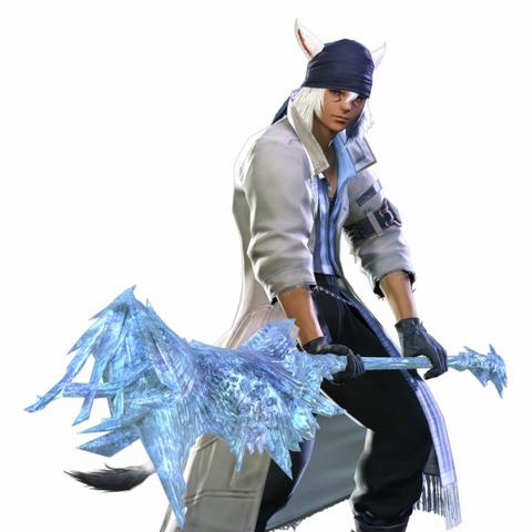 Snow costume and the l'Cie Bardiche.