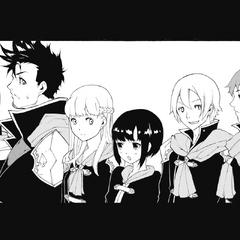 Kurasame with his classmates.