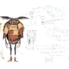 Early concept art of a Yagudo.