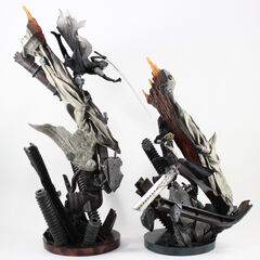Cloud vs Sephiroth <i>Advent Children</i> cold cast displayed at an anniversary party.