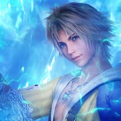 Promotional artwork for <i>Final Fantasy X HD Remaster</i>.