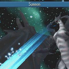 Summoning Bahamut in <i>Final Fantasy IV</i> (DS).