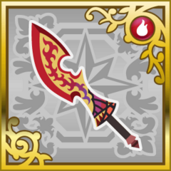 Flametongue in <i>Final Fantasy Airborne Brigade</i> (SR).