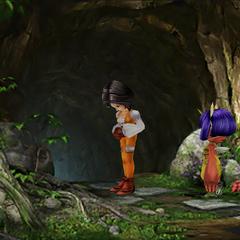 Garnet and Eiko at the shrine.