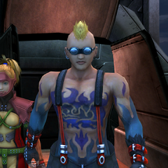 Brother with Rikku in <i>Final Fantasy X</i>.