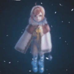 Tilika as she appears in a cutscene.