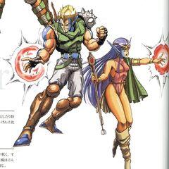 <i>The Final Fantasy Legend</i> Male and Female Mutants.