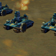 The tanks in the iOS version.