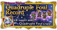 FFRK Quadruple Foul Record Nightmare