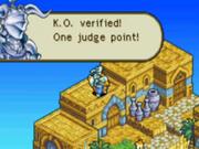 Judge point