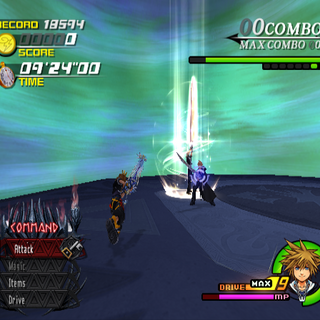 Blasting Zone in <i>Kingdom Hearts II</i>.