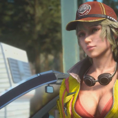 Cindy in trailer.