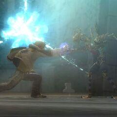 Layle and Amidatelion clash.