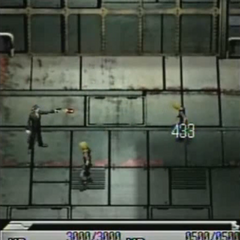 Tseng attacking in <i>Before Crisis -Final Fantasy VII-</i>.