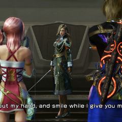 Nabaat talking to Serah and Noel.