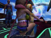Shinra hugs yuna